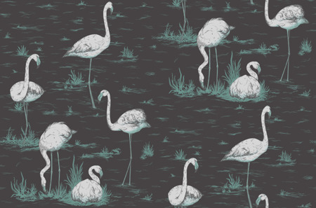 Tapeta Cole&Son The Contemporary Collection - Flamingos 95/8048