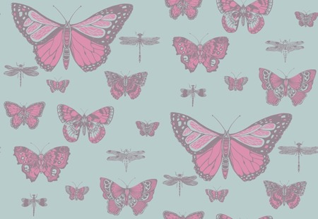 Tapeta Cole&Son Whimsical - Butterflies&Dragonflies 103/15062