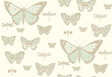 Tapeta Cole&Son Whimsical - Butterflies&Dragonflies 103/15065